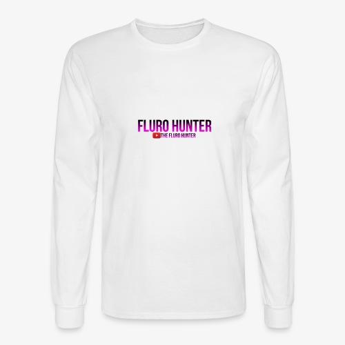 The Fluro Hunter Black And Purple Gradient - Men's Long Sleeve T-Shirt