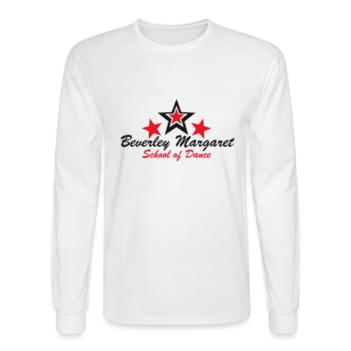 on white teen adult - Men's Long Sleeve T-Shirt