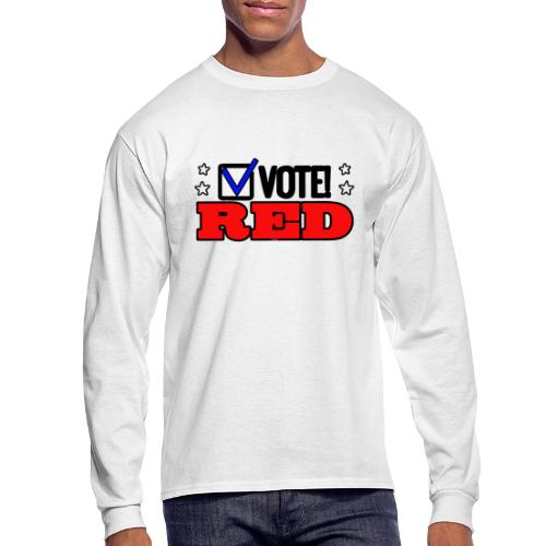 VOTE RED - Men's Long Sleeve T-Shirt