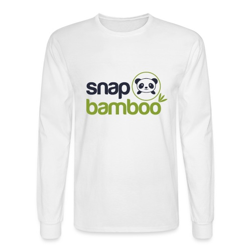 Snap Bamboo Square Logo Branded - Men's Long Sleeve T-Shirt