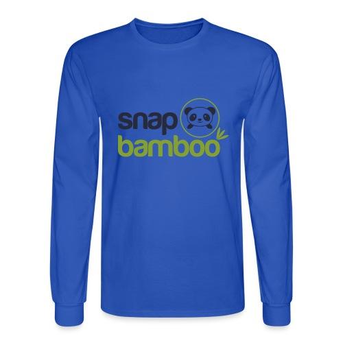Snap Bamboo Square Logo Branded - Men's Long Sleeve T-Shirt