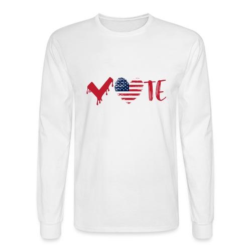 vote heart red - Men's Long Sleeve T-Shirt