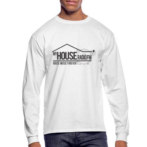My House Radio Black Logo - Men's Long Sleeve T-Shirt