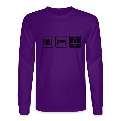 Eat Sleep Urb big fork - Men's Long Sleeve T-Shirt