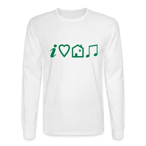 I Heart House Music - Symbolic Design 1 - Men's Long Sleeve T-Shirt