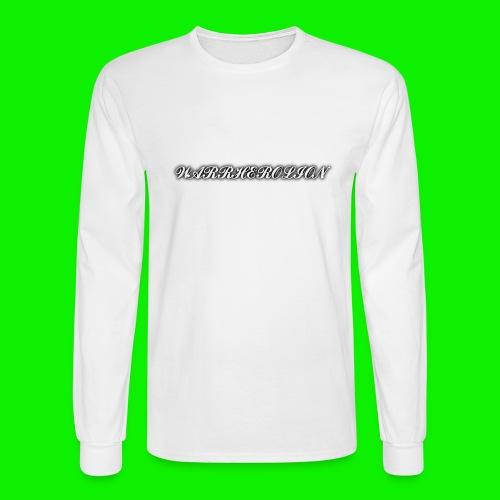 Warherolion plane text-gray - Men's Long Sleeve T-Shirt
