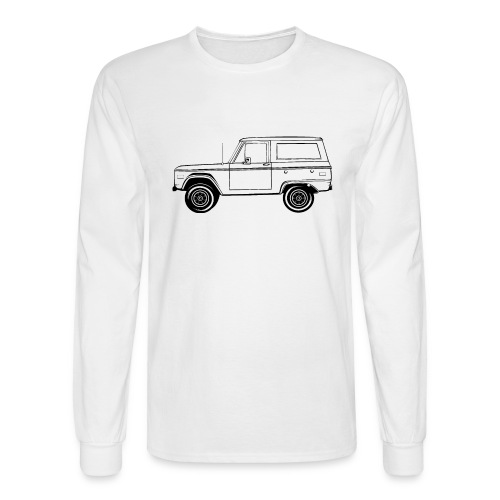 Bronco Truck Line Art Men's T-Shirt - Men's Long Sleeve T-Shirt