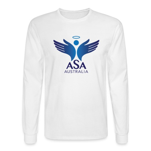 3459 Angelman Logo AUSTRALIA FA CMYK - Men's Long Sleeve T-Shirt