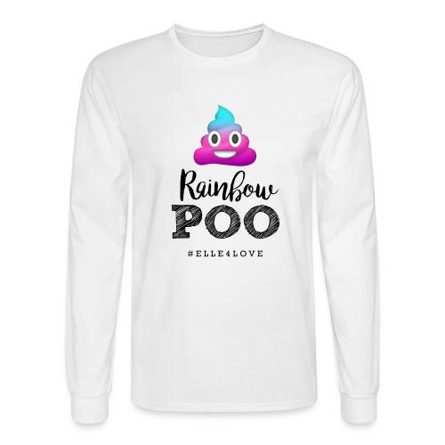 Rainbow Poo - Men's Long Sleeve T-Shirt