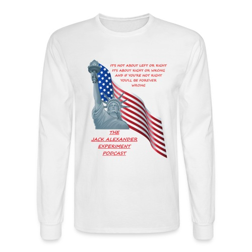 Liberty right wrong - Men's Long Sleeve T-Shirt