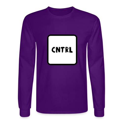 White CNTRL Logo - Men's Long Sleeve T-Shirt