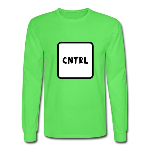White CNTRL Logo - Men's Long Sleeve T-Shirt