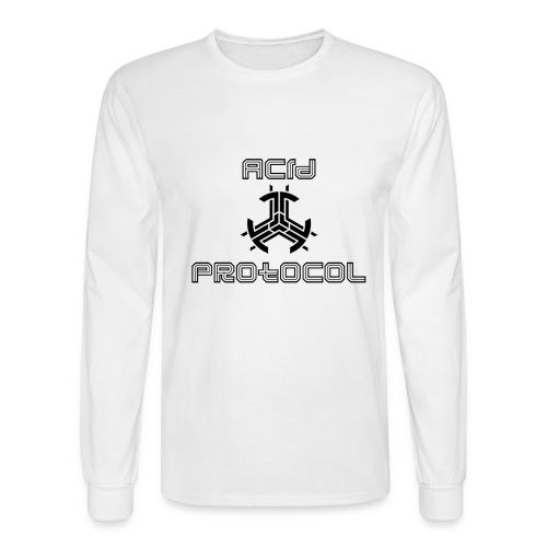 ACID PROTOCOL OFFICIAL LOGO BLACK - Men's Long Sleeve T-Shirt