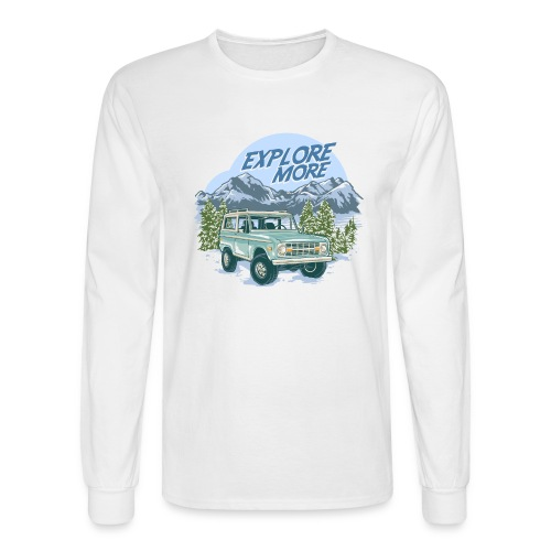Bronco Truck Explore more II Graphic T-Shirt - Men's Long Sleeve T-Shirt