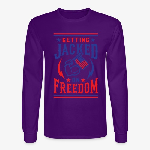 Getting Jacked On Freedom - Men's Long Sleeve T-Shirt