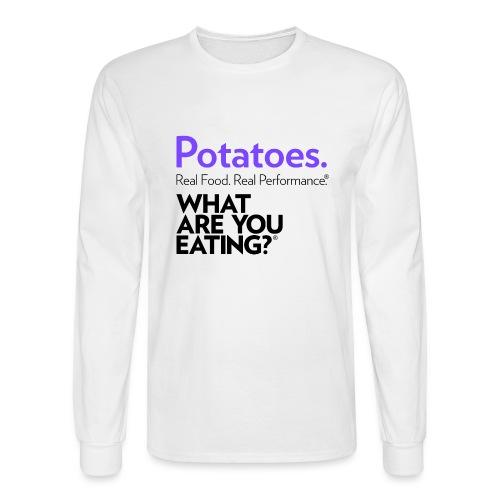 Potatoes. Real Food. Real Performance. - Men's Long Sleeve T-Shirt