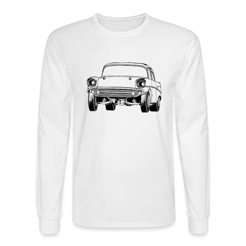 Gasser Up 1957 Chevy Drag Car - Men's Long Sleeve T-Shirt