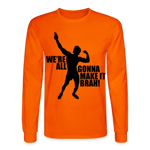 Zyzz Silhouette we're all gonna make it - Men's Long Sleeve T-Shirt