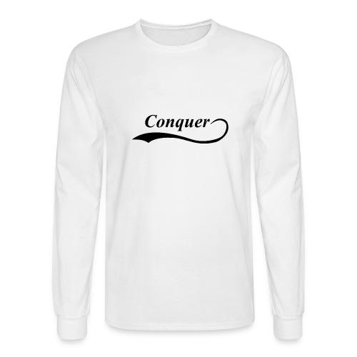 Conquer Baseball T-Shirt - Men's Long Sleeve T-Shirt