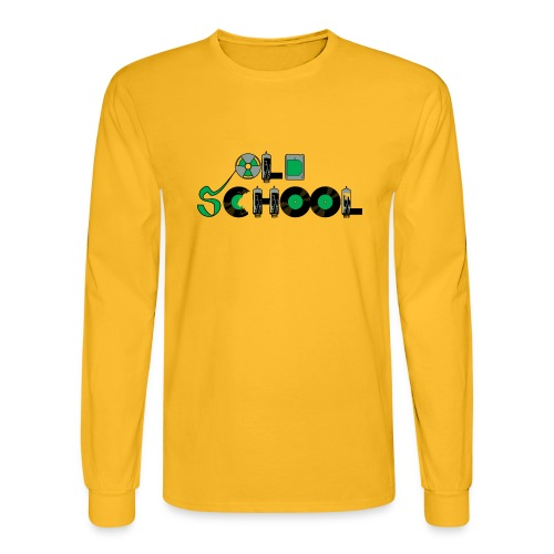 Old School Music - Men's Long Sleeve T-Shirt
