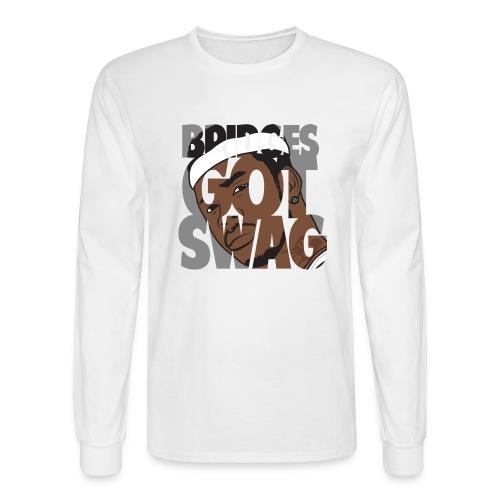 Men's Hoodie - #BridgesGotSwag - Men's Long Sleeve T-Shirt