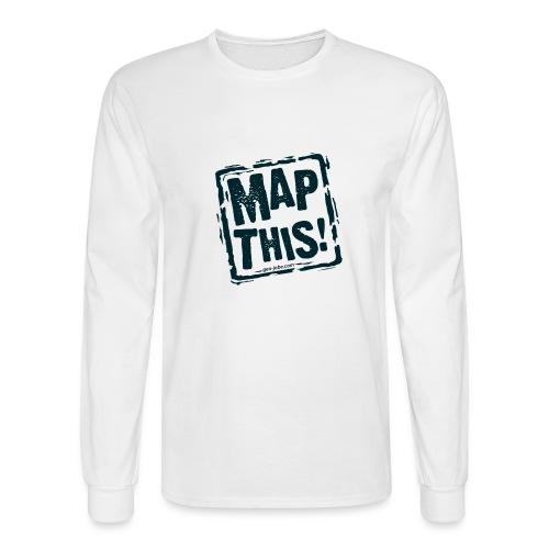 MapThis! Black Stamp Logo - Men's Long Sleeve T-Shirt