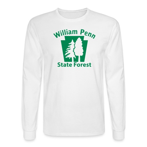 William Penn State Forest Keystone (w/trees) - Men's Long Sleeve T-Shirt