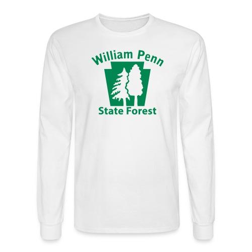 William Penn State Forest Keystone (w/trees) - Men's Long Sleeve T-Shirt