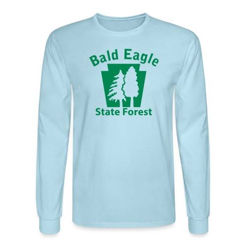 Bald Eagle State Forest Keystone (w/trees) - Men's Long Sleeve T-Shirt