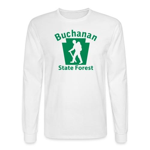 Buchanan State Forest Keystone Hiker male - Men's Long Sleeve T-Shirt