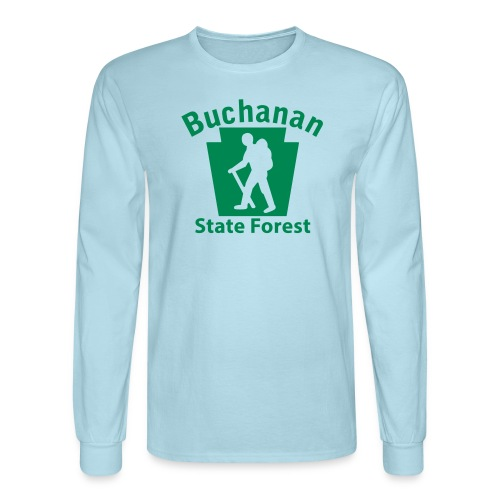 Buchanan State Forest Keystone Hiker male - Men's Long Sleeve T-Shirt