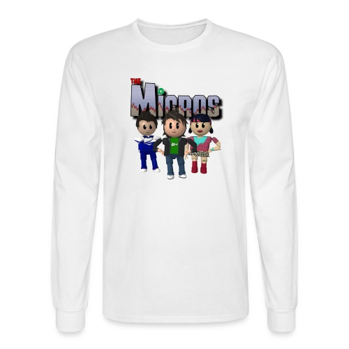 Logo with Characters - Men's Long Sleeve T-Shirt
