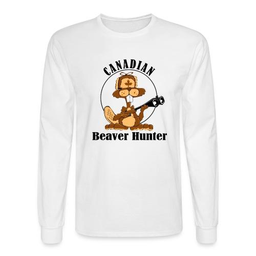 Canadian Beaver Hunter - Men's Long Sleeve T-Shirt