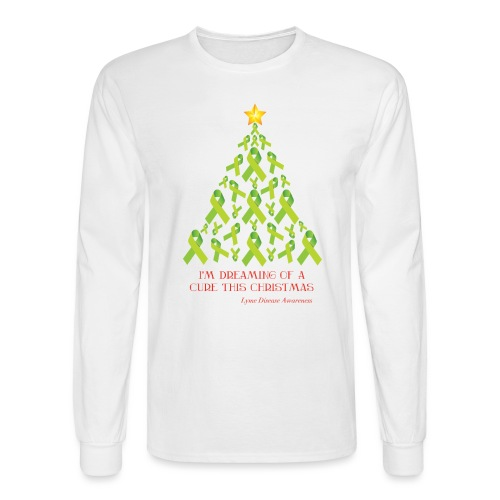 Lyme Free Christmas - White Edition - Men's Long Sleeve T-Shirt