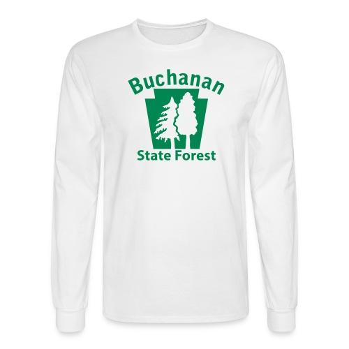 Buchanan State Forest Keystone (w/trees) - Men's Long Sleeve T-Shirt