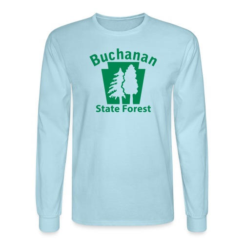 Buchanan State Forest Keystone (w/trees) - Men's Long Sleeve T-Shirt