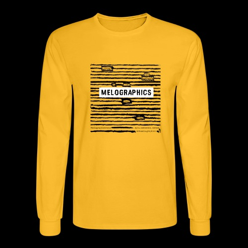 MELOGRAPHICS | Blackout Poem - Men's Long Sleeve T-Shirt