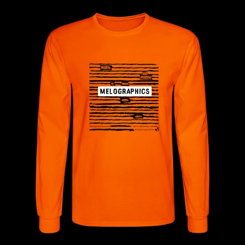 MELOGRAPHICS | Blackout Poem - Men's Long Sleeve T-Shirt