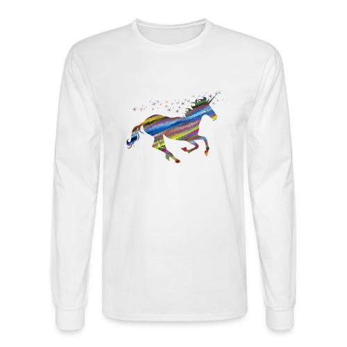 The Majestic Prismatic Streaked Magical Unicorn - Men's Long Sleeve T-Shirt