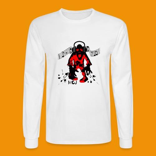 Music Zombie - Men's Long Sleeve T-Shirt