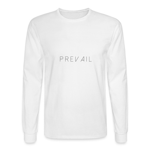 Prevail White - Men's Long Sleeve T-Shirt