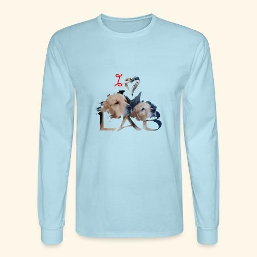 I love Lab - Men's Long Sleeve T-Shirt