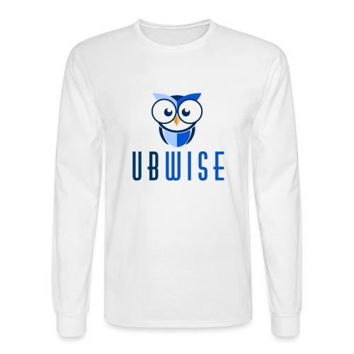 UBWise Logo Owl Bottom - Men's Long Sleeve T-Shirt