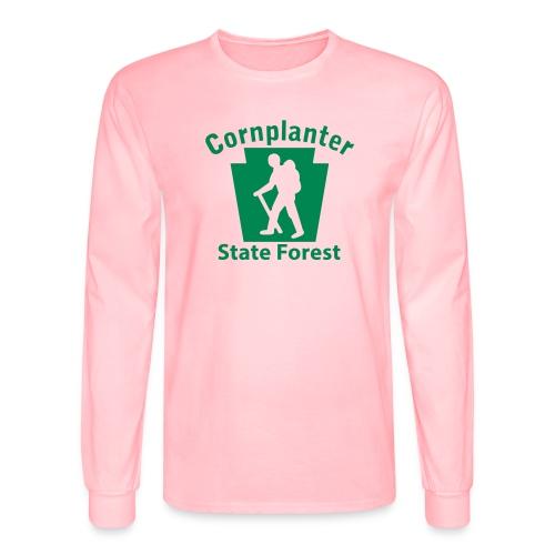 Cornplanter State Forest Keystone Hiker male - Men's Long Sleeve T-Shirt