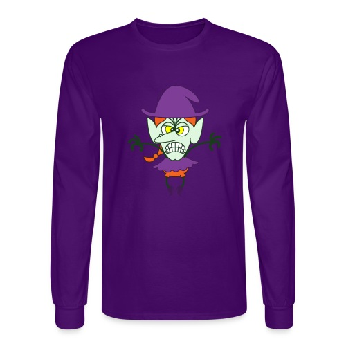 Scary Halloween Witch - Men's Long Sleeve T-Shirt