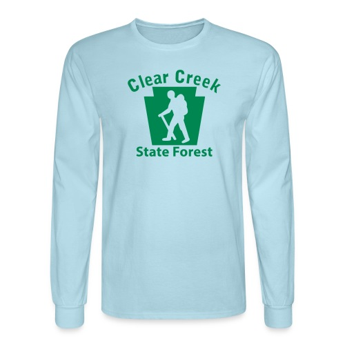Clear Creek State Forest Keystone Hiker male - Men's Long Sleeve T-Shirt