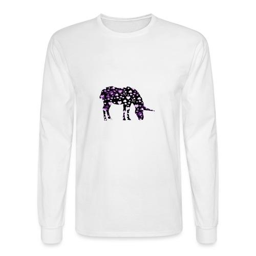 Unicorn Hearts purple - Men's Long Sleeve T-Shirt