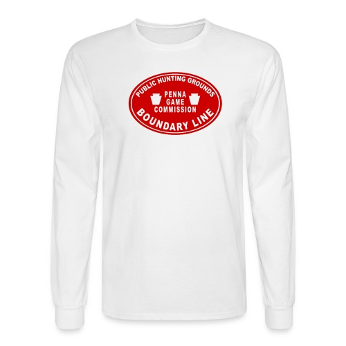 PA Game Lands Boundary - Men's Long Sleeve T-Shirt