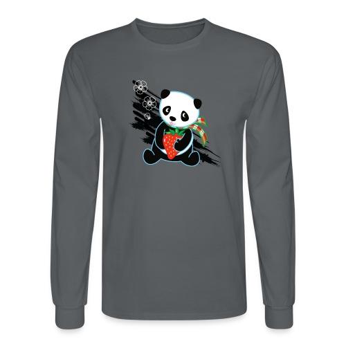 Cute Kawaii Panda T-shirt by Banzai Chicks - Men's Long Sleeve T-Shirt