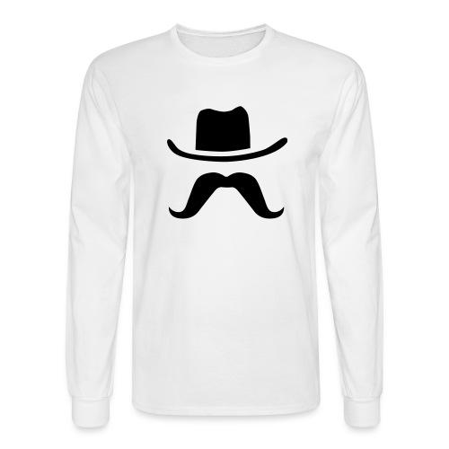 Hat & Mustache - Men's Long Sleeve T-Shirt
